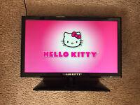 "Hello Kitty 19"" LED Stereo TV PC Monitor HD 720p HDMI USB - No Remote"