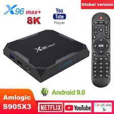 X96 Max Plus TV Box Android 9.0 Amlogic S905X3 Quad Core Wifi 8K Media Streamers