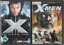 X Men The Official Game + x-MEN LEGENDS 2 Rise of Apocalypse raccolta giochi pc