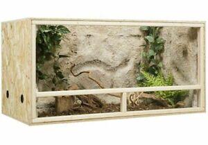 Terrarium Bois 100 x 50 x 50 cm Vivarium Plaque OSB Aeration Vitre Verre Grille