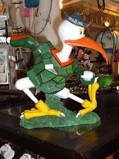 """UNIVERSITY OF MIAMI STAINED GLASS TIFFANY RESIN LAMP 12"""" X 11"""" FIGURINE  NEW"""