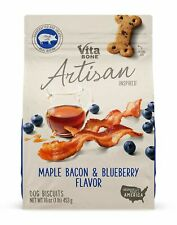 Vita Bone Artisan Inspired Maple Bacon & Blueberry Flavor Biscuit for Dogs 16oz