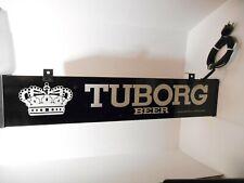 Vintage Tuborg Beer Light Up Sign Working Bar Pub Man Cave Advertisement