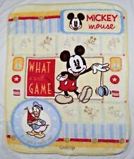 Mickey Mouse Donald Duck COLAP Plush SOFT Blanket What A Swell Game Disney