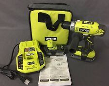 Ryobi 18-Volt ONE+ Lithium-Ion Cordless Hammer Drill Kit P1812 [A]