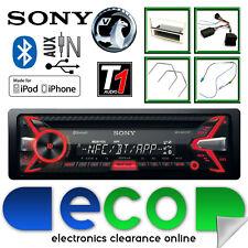 Vauxhall Corsa D Sony CD MP3 USB Bluetooth Car Stereo Silver Fascia Steering Kit