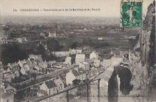 CPA 50 NORMANDIE Manche CHERBOURG Vue de la Montagne du Roule 1912 animée