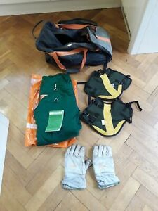 Stihl safety kit, chainsaw trousers (size small medium),gloves, gaiters and bag