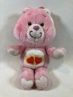 "Vintage Original 80's Kenner Care Bears 13"" Love-A-Lot Bear Plush Pink Heart"