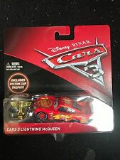 Disney Cars 3 Lightning McQueen With Piston Cup Trophy VHTF