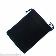 *ONE BAG* Black Velour Drawstring 7x9cm QTY1 Gift Wedding Jewelry Pouch A071