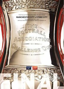 FA CUP FINAL 2011 Manchester City v Stoke City - Official programme