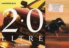 Subaru Impreza 2.0 GL 1995-96 UK Market Sales Brochure 4-dr 5-dr