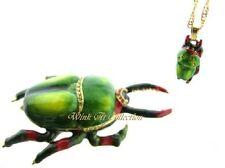 Flower Beetle Bejeweled Trinket Box
