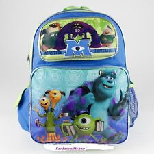 """Disney Monster University Backpack - Mike Sulley 16"""" inches Large Girls Boys"""