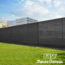 Black 8'x50' tall Fence Windscreen Privacy Screen Shade Cover Mesh Garden New