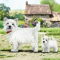 Craft Buddy Crystal Art DIY Greeting Card Kit WESTIE DOG 5D diamond painting