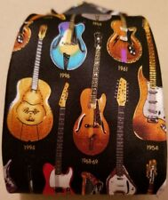 Museum Artifacts tie Classic Guitars years1910 -1996 - Silk -History of Guitars