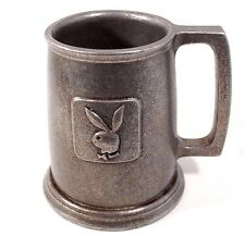 Playboy Bunny Pewter Beer Stein Mug Carson Freeport PA Vintage Patina Man Cave