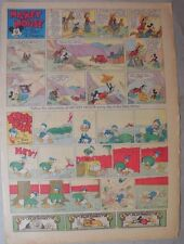 Mickey Mouse Sunday Page by Walt Disney from 9/19/1937 Tabloid Page Size