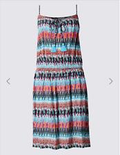 M & S MULTI COLOURED IKAT PRINT LACEUP DRESS