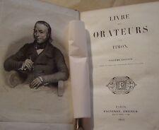 TIMON ( LAHAYE  Louis-Marie de, vicomte de CORMENIN ) LIVRE DES ORATEURS - 1842