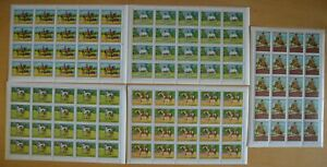 O456. Fujeira - MNH - Animals - Horses - Full Sheet
