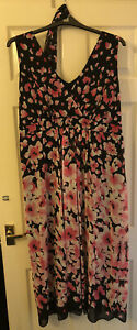 Floral Formal Evening Dress Size UK 22