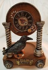 Yankee Candle Steampunk LOST Raven Large/Medium Jar Candle Holder Brown Silver