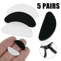 5 Pairs Adhesive Anti-slip Silicone Nose Pads Stick On For Eyeglasses Glasses