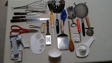 Set of 20 Kitchen Utensils-Mixed Cooking-Serving-Baking Used VG-Good & Some New