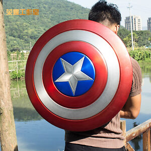 Captain America Vibranium Shield Made of Aluminum Alloy 1:1 Scale Cosplay Prop