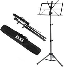 More details for dsl sheet music book stand +carrying bag portable folding metal stand adjustable