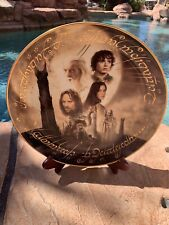 """Danbury Mint Lord of the Rings The Two Towers , Large 12"""" Collectors Plate"""