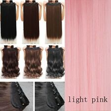 100%Thick One Piece Real Clip in 5% Remy Human Hair Extension Full Head US Stock