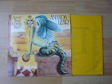 AMANDA LEAR ++POSTER ++ NEVER TRUST A PRETTY FACE  ALBUM 33T DISQUE VINYL