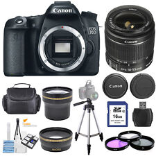Canon EOS 70D DSLR Camera with 18-55mm IS STM Lens!! Bundle Kit!! New!!