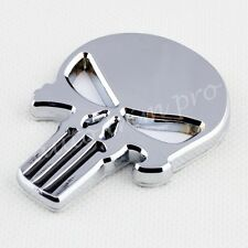 Car Accessories Chrome Punisher Skull Pirate Emblem Symbol Badge Sticker Decorte