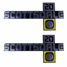 "81-88 Chevrolet C/K "" SCOTTSDALE 20 "" Front Fender Emblem Trim SET Trim Parts"