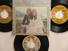 LOT OF 4 ' THE CARPENTERS ' HIT 45's+1PS [We've Only Just Begun]  THE 70's!