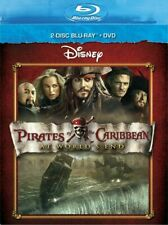 Pirates Of The Caribbean : At World's End ( Blu Ray/DVD,2011 ) 3 Disc Set