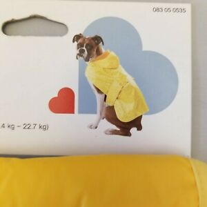 Boots & Barkley Dog Rain Coat in a Pouch New Size Large Fits 25-50 lbs. Yellow