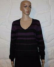 Black & Violet Tricot M & S Femme Haut à manches longues Pull Pull Taille 14/42
