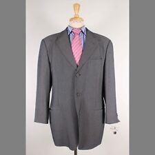 Emporio Armani 42R Gray Solid Cotton Three Button Mens Sport Coat Blazer Jacket