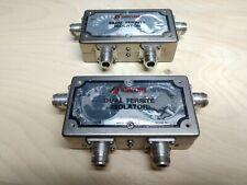 2 Sinclair I4213A Dual Circulator Isolator 806-960 Mhz Ham 900 Mhz