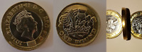 Striking Error £1 Pound Coin 12 Sided 2016 2017 with Minting Mistakes