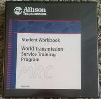 Allison World Transmission Student Workbook Service Training Program Manual
