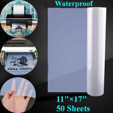50 Sheets Waterproof Inkjet Transparency Film for Screen Printing 17'' x 11'' !