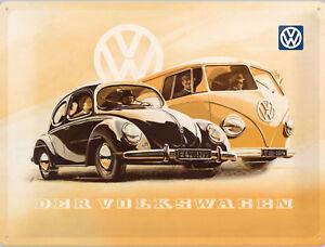 Nostalgic Art VW Bulli Et Beetle - Le Volkswagen Panneau Métallique 15 x 20
