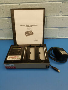 CIRRIS SIGNATURE 1000R+ CABLE TESTER FULLY FUNCTIONAL WITH POWER SUPPLY & MANUAL